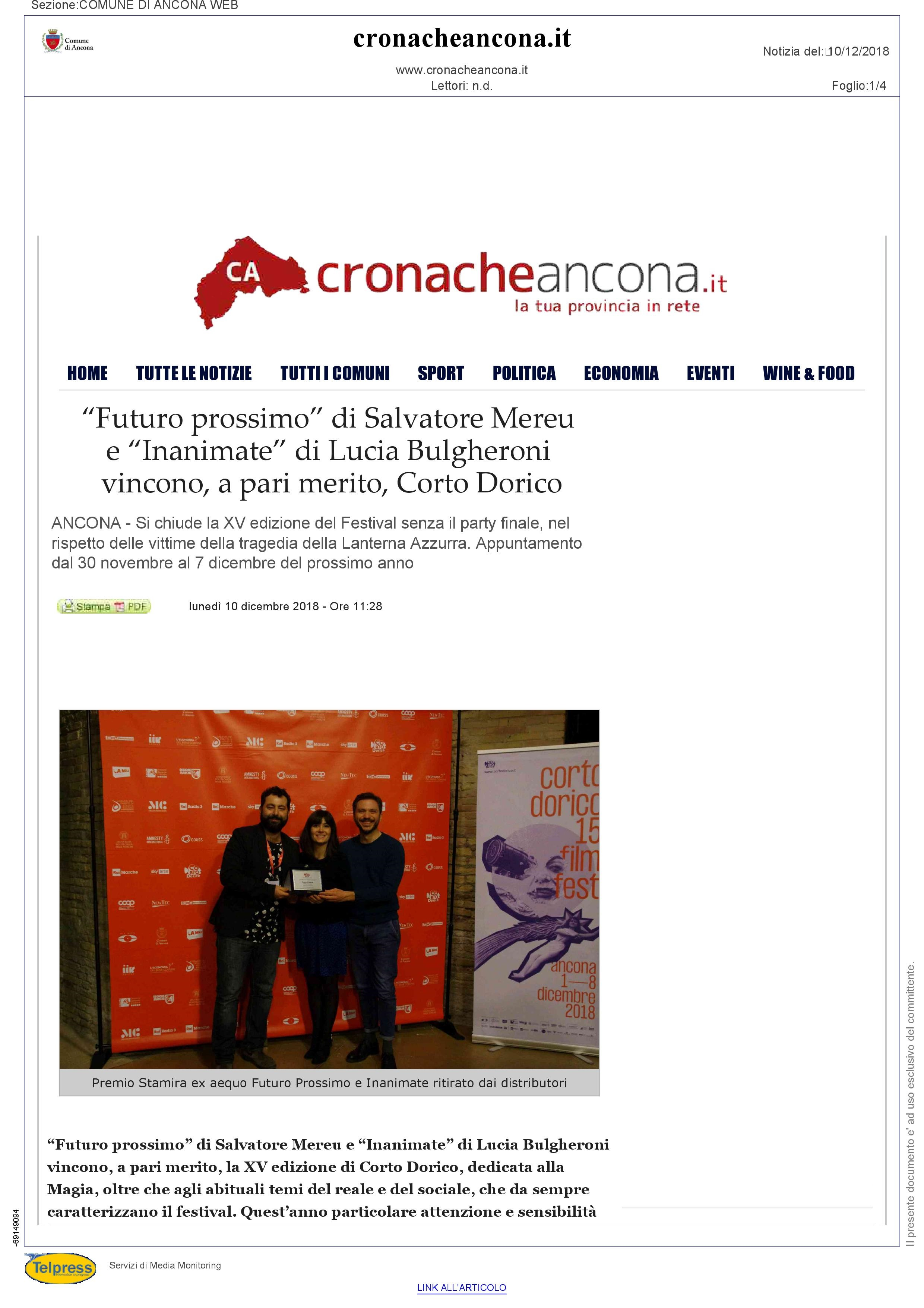 10-12-18 Cronache Ancona pag 1