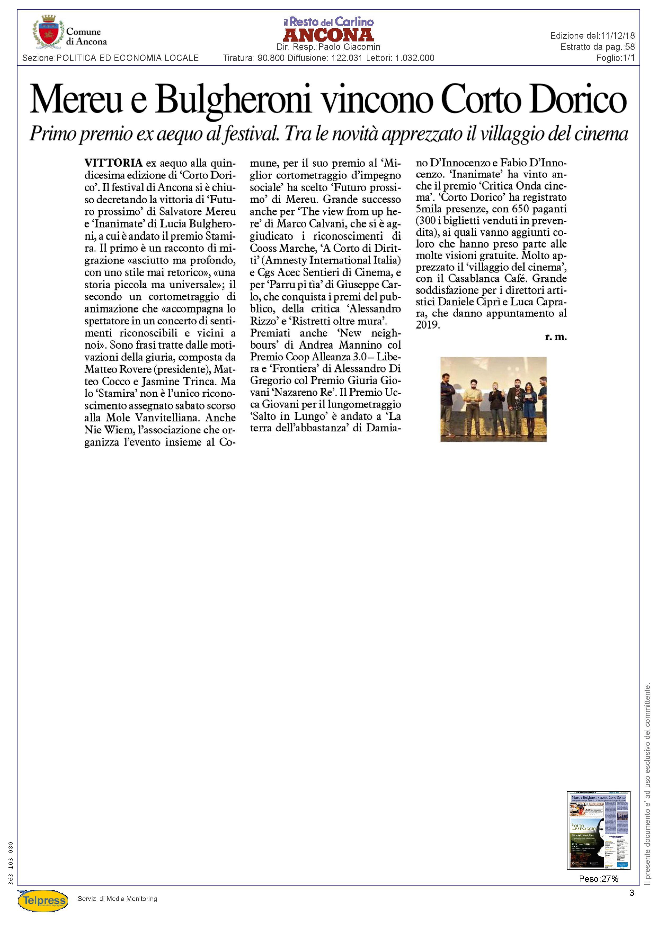11-12-18 Il Resto del Carlino(Ancona)