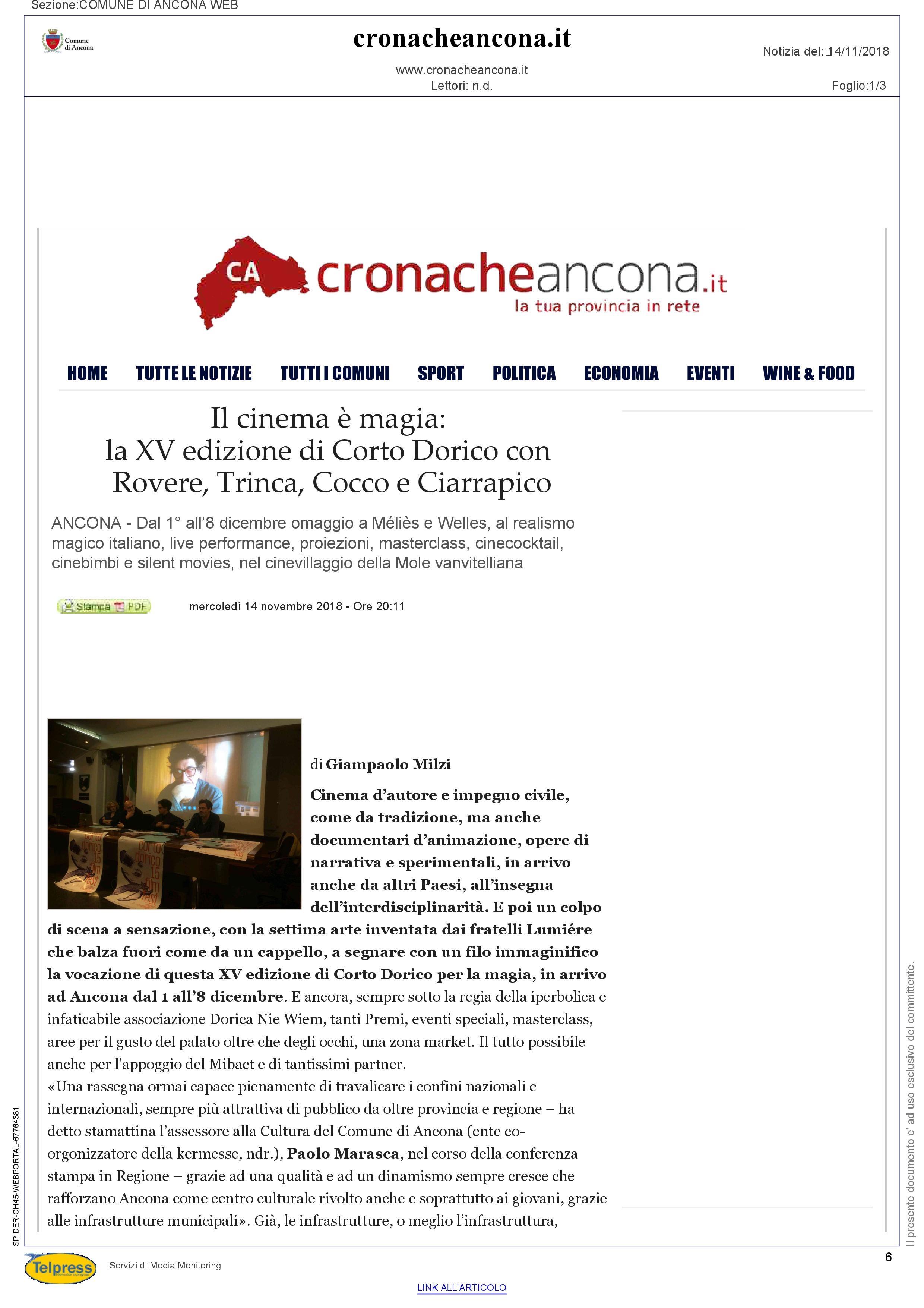 14-11-18 Cronache Ancona pag 1