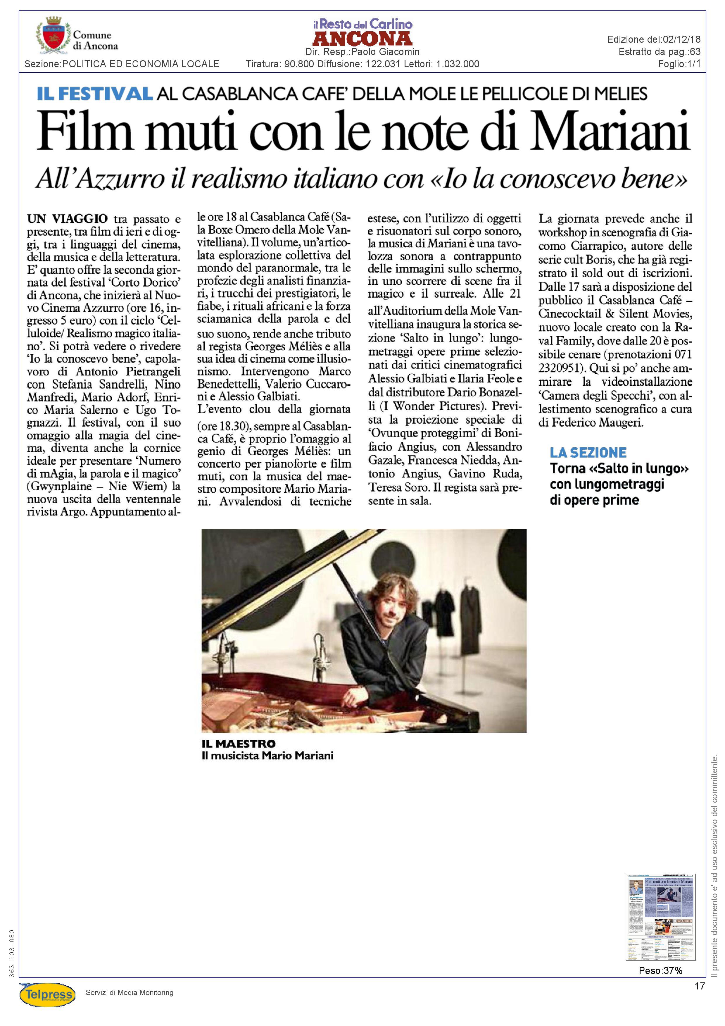2-12-18 Il Resto del Carlino (Ancona)