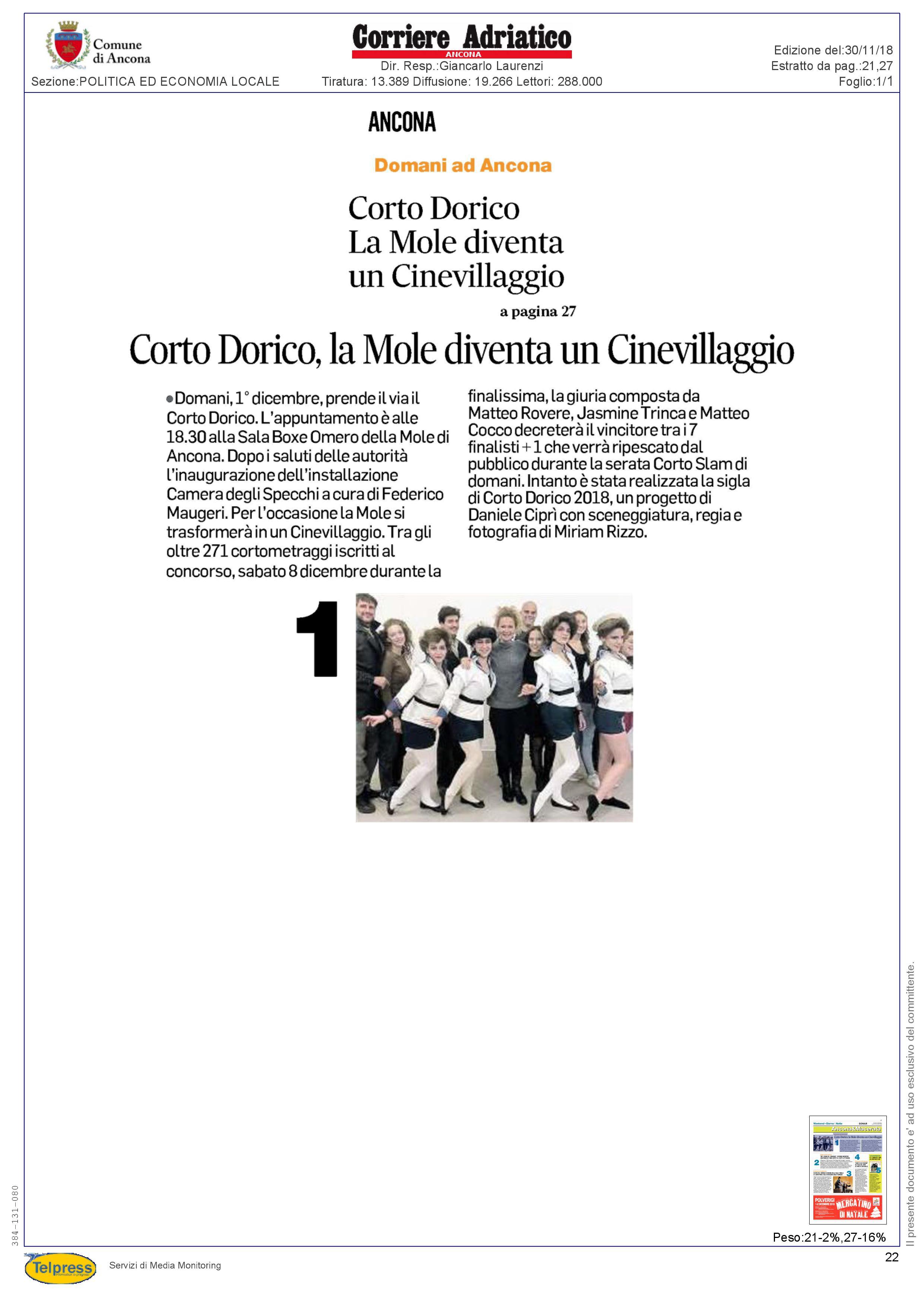 30-11-18 Corriere Adriatico