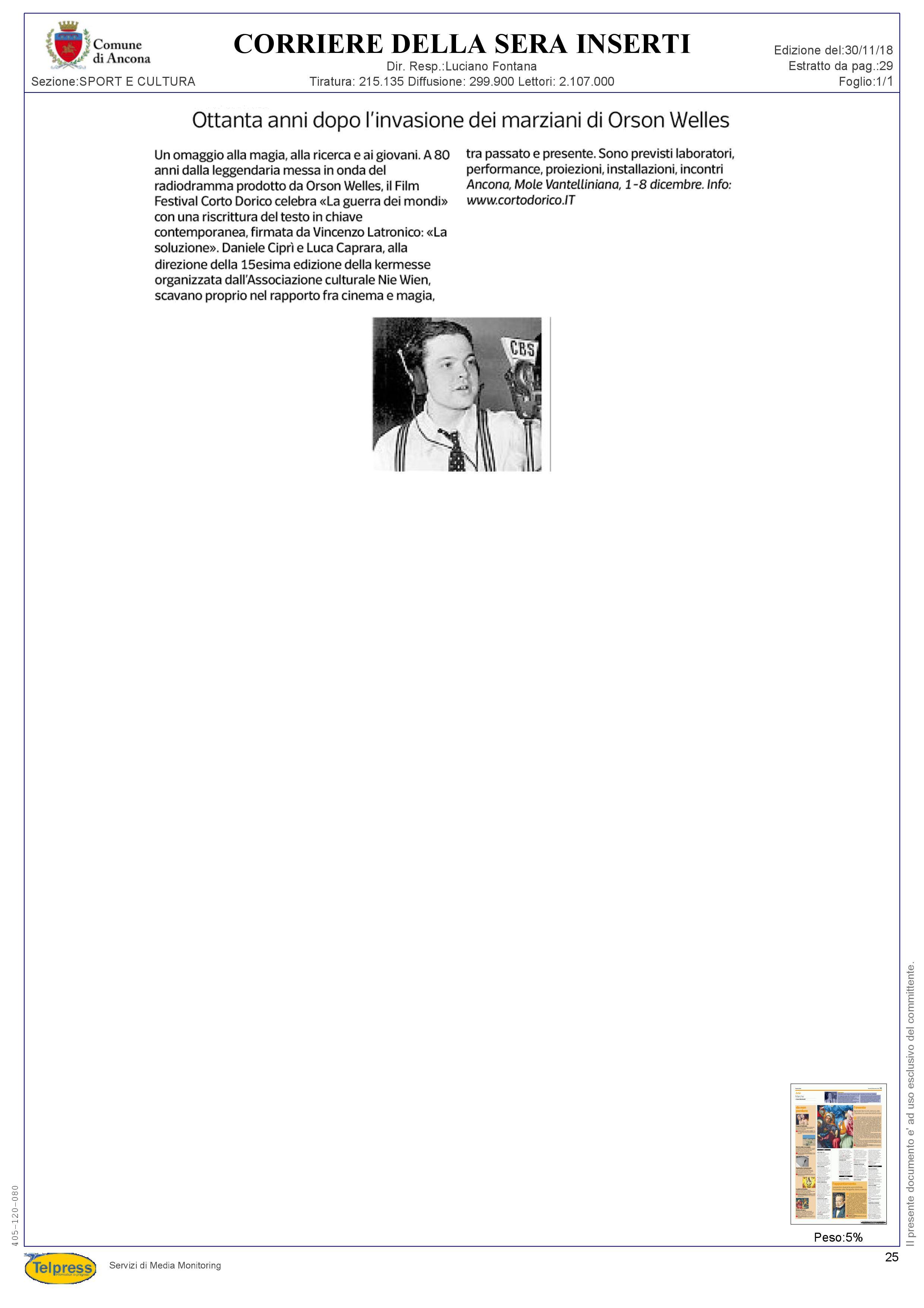 30-11-18  Corriere della Sera - Extra