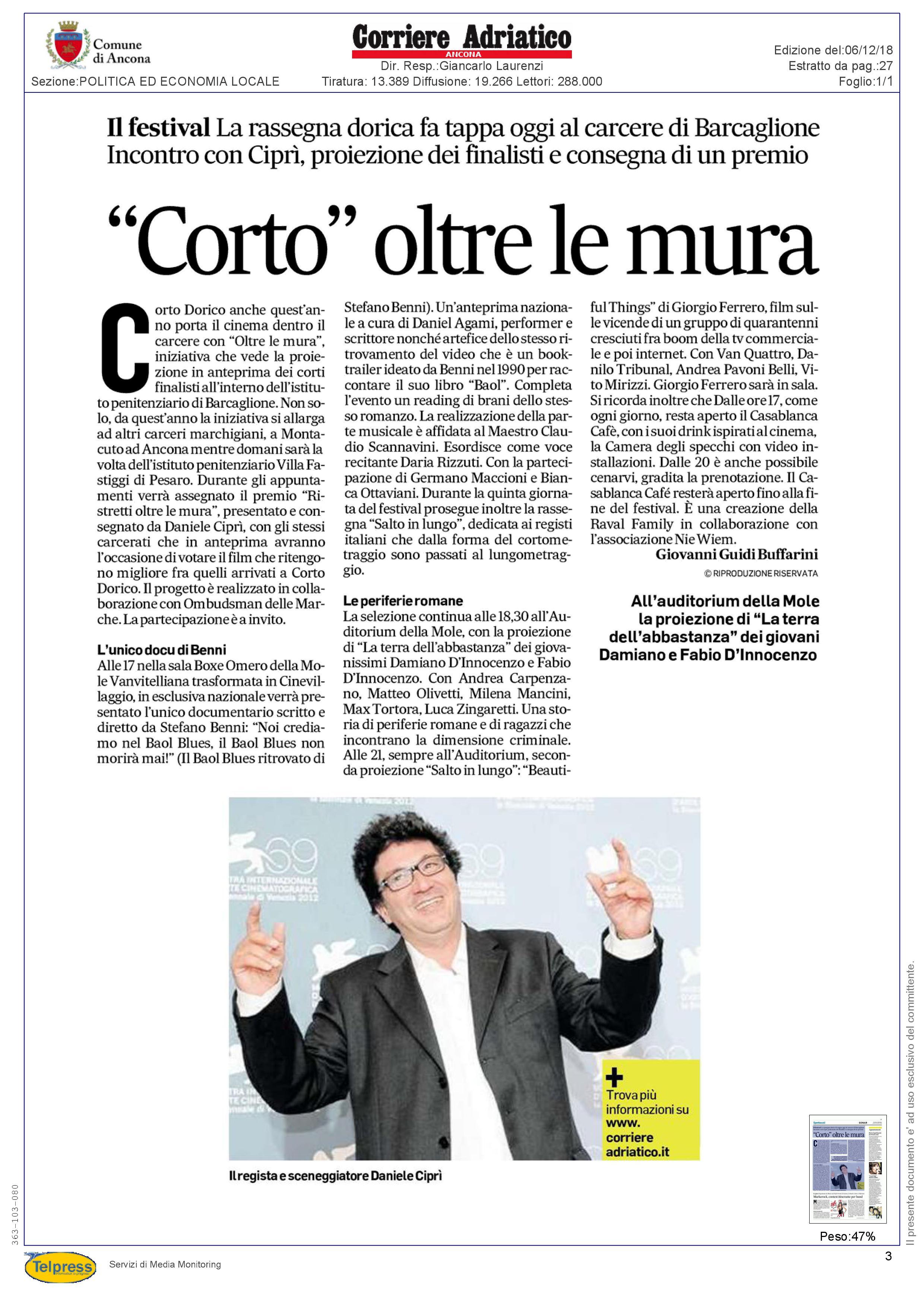 6-12-18 Corriere Adriatico