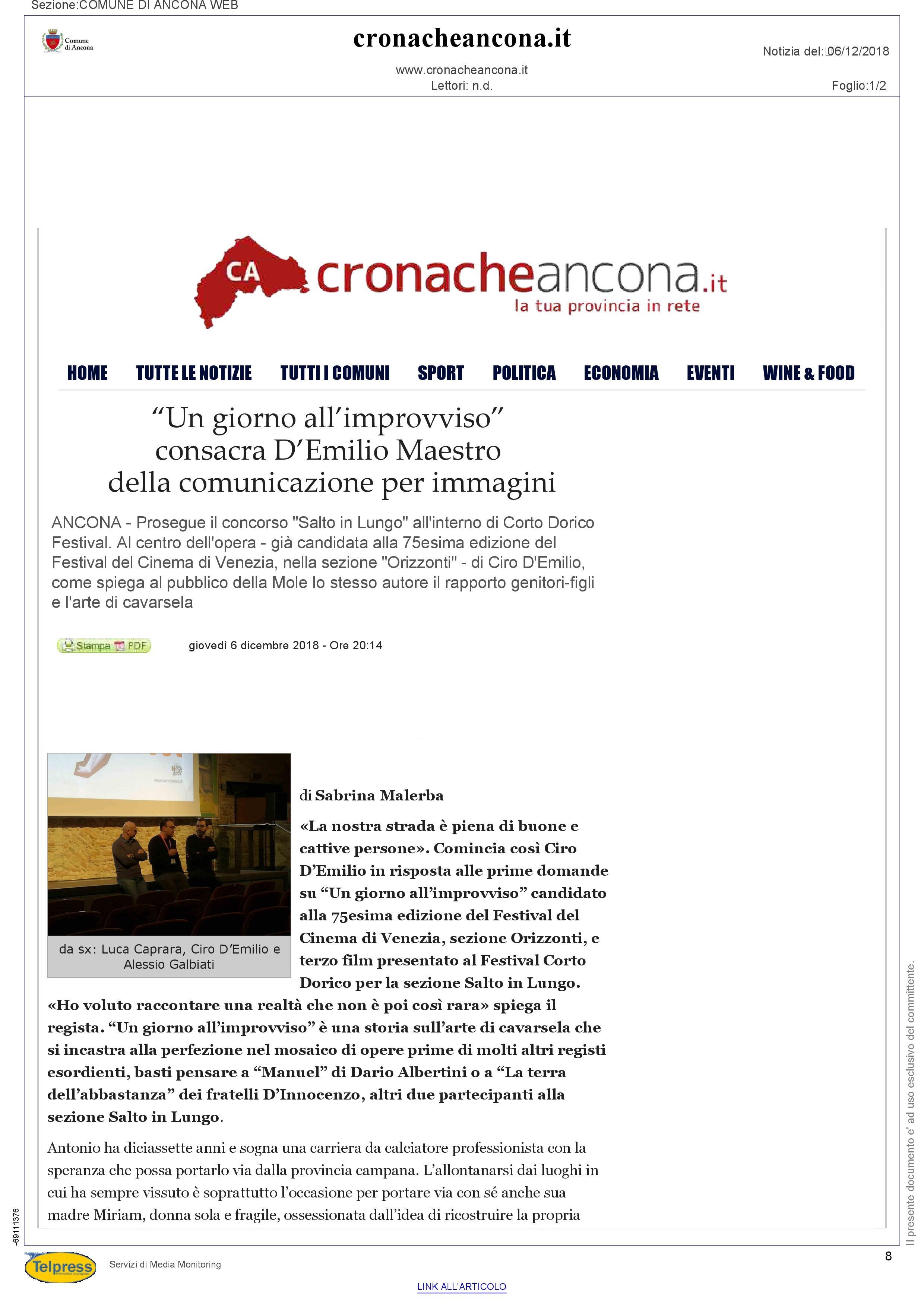 6-12-18 Cronache Ancona pag 1